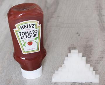 würfelzucker ketchup